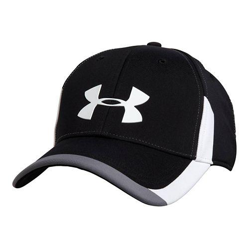 Mens Under Armour Renegade Stretch Fit Cap Headwear - Black/Graphite L/XL