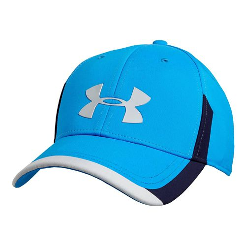 Mens Under Armour Renegade Stretch Fit Cap Headwear - Blue Jean/Midnight M/L