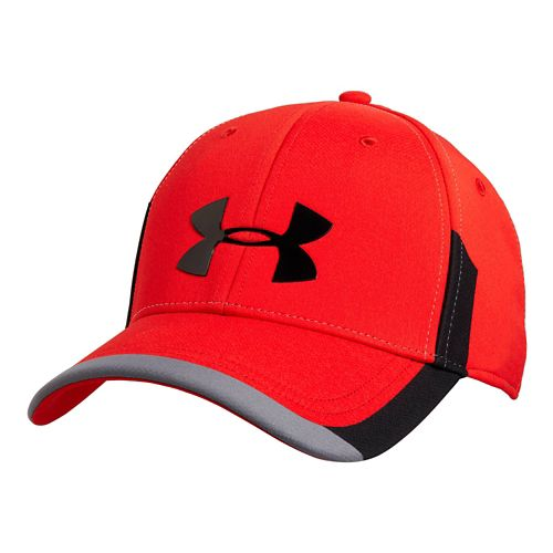 Mens Under Armour Renegade Stretch Fit Cap Headwear - Red Graphite XL/XXL