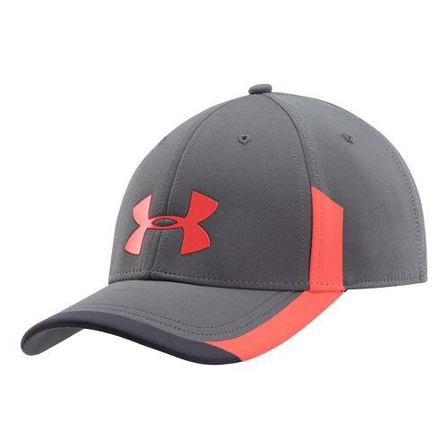 Mens Under Armour Renegade Stretch Fit Cap Headwear - Red Graphite L/XL