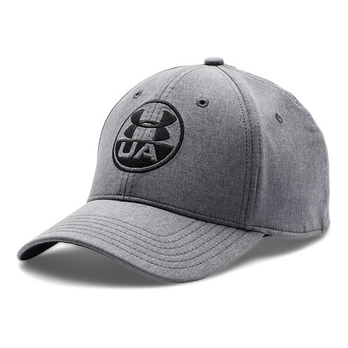 Mens Under Armour Performance Chambray Stretch Fit Cap Headwear - Midnight Navy XL/XXL