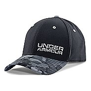 Mens Under Armour Bark Camo Stretch Fit Cap Headwear