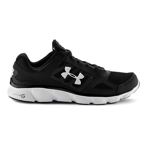 Mens Under Armour Micro G Assert V Running Shoe - Black/White 9