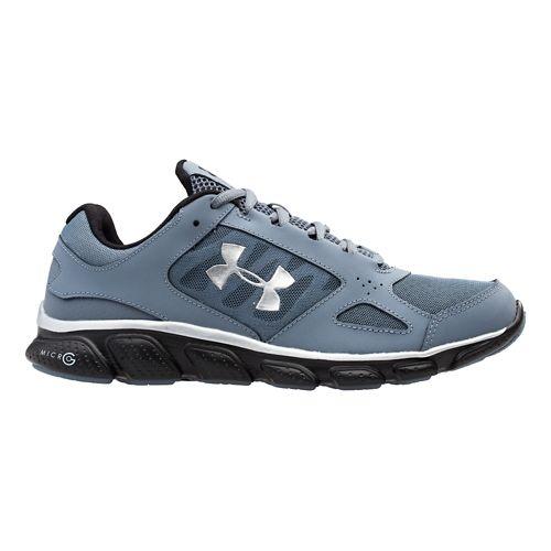 Mens Under Armour Micro G Assert V Running Shoe - Gravel/Silver 9.5