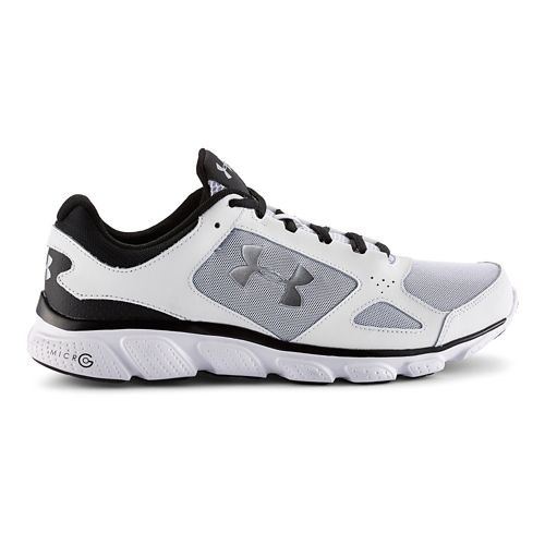 Mens Under Armour Micro G Assert V Running Shoe - White/Black 10