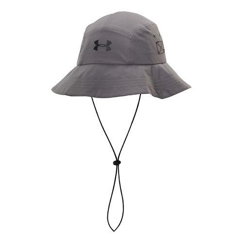 Mens Under Armour Toughest Bucket Hat Headwear - Graphite/Black