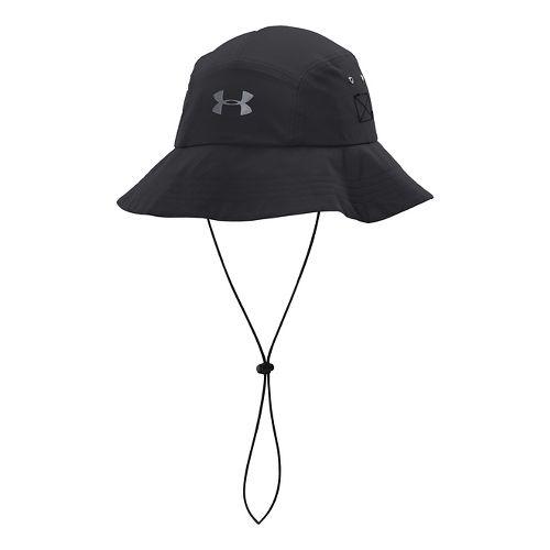 Mens Under Armour Toughest Bucket Hat Headwear - Black/Steel