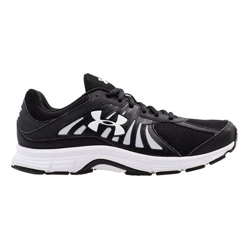 Mens Under Armour Dash RN Running Shoe - Black/White 13