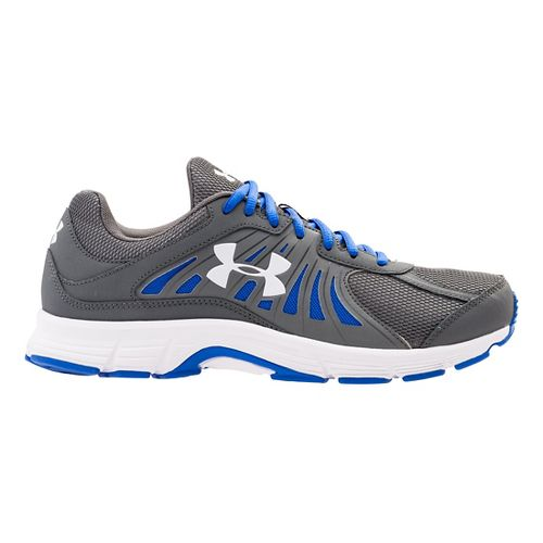 Mens Under Armour Dash RN Running Shoe - Graphite/Ultra Blue 12