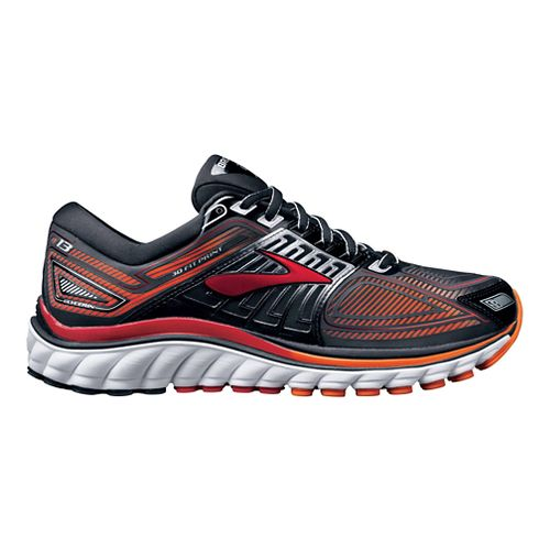 Mens Brooks Glycerin 13 Running Shoe - Black/Orange 12.5