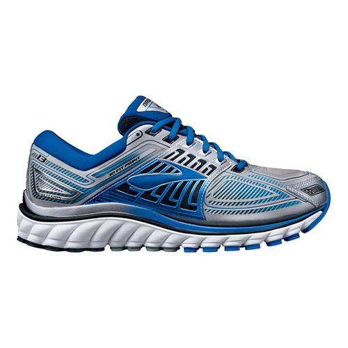 Mens Brooks Glycerin 13 Running Shoe - Silver/Blue 8