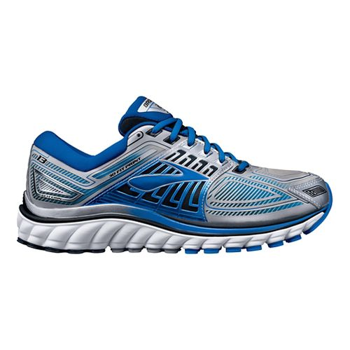 Mens Brooks Glycerin 13 Running Shoe - Silver/Blue 8.5