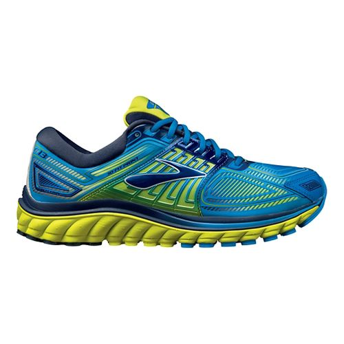 Mens Brooks Glycerin 13 Running Shoe - Blue/Lime 12