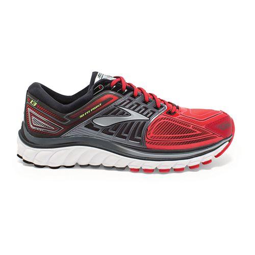 Mens Brooks Glycerin 13 Running Shoe - Red/Black 9