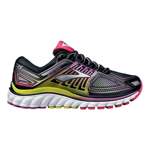 Womens Brooks Glycerin 13 Running Shoe - Black/Violet 7.5