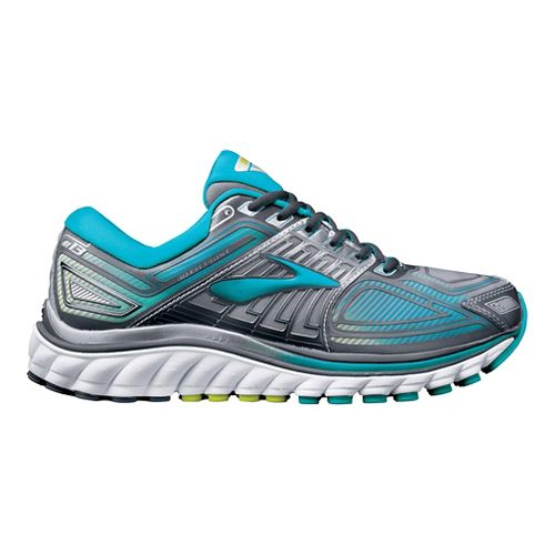 Womens Brooks Glycerin 13 Running Shoe - Silver/Blue 7.5