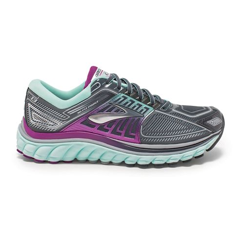 Womens Brooks Glycerin 13 Running Shoe - Anthracite/Mint 10.5