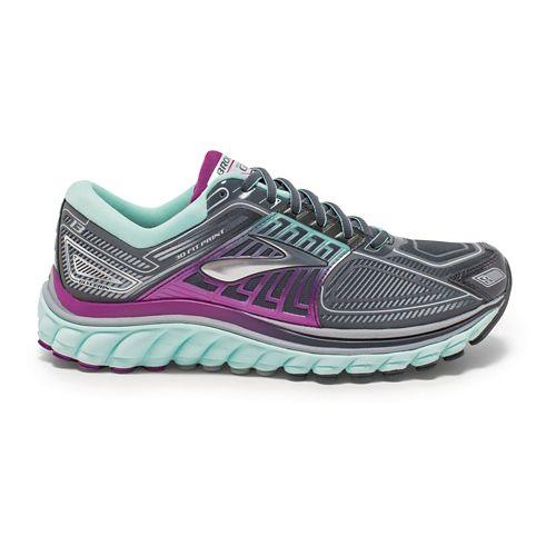 Womens Brooks Glycerin 13 Running Shoe - Anthracite/Mint 5.5