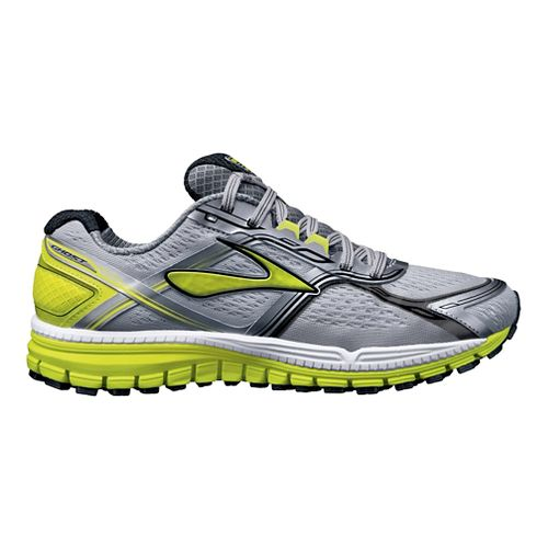 Mens Brooks Ghost 8 Running Shoe - Grey/Lime 9