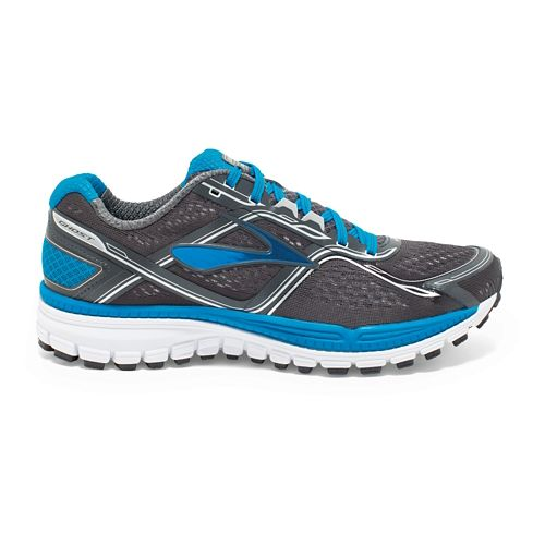 Mens Brooks Ghost 8 Running Shoe - Anthracite/Blue 10