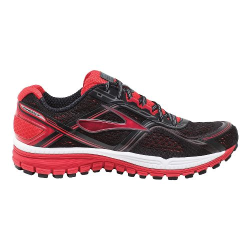 Mens Brooks Ghost 8 Running Shoe - Black/Red 11.5