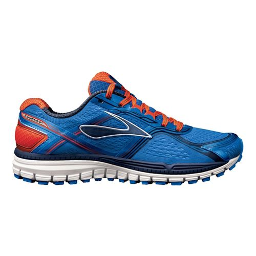 Mens Brooks Ghost 8 Running Shoe - Blue/Orange 10