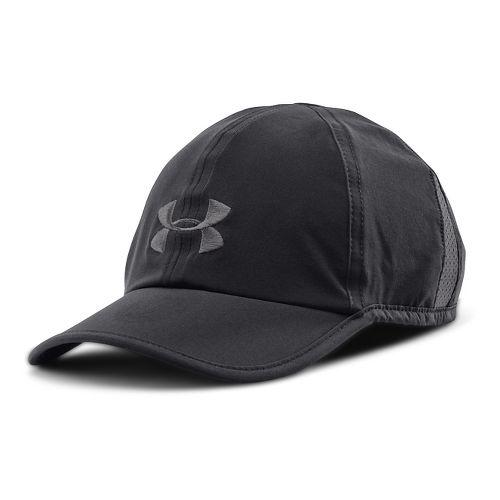Mens Under Armour Shadow Cap 2.0 Headwear - Black/Black