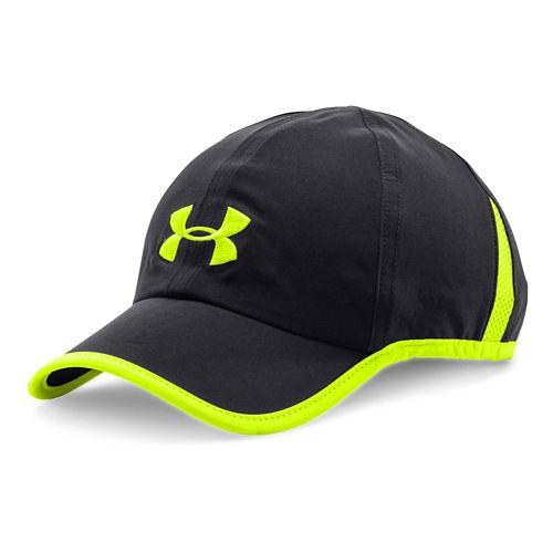 Mens Under Armour Shadow Cap 2.0 Headwear - Black/HighVis Yellow