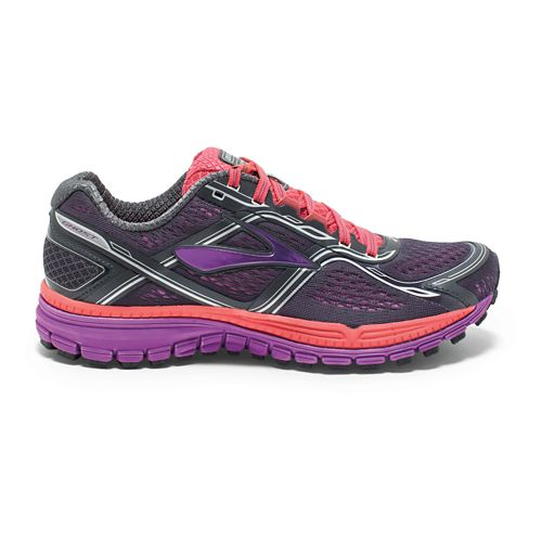 Womens Brooks Ghost 8 Running Shoe - Antracite/Purple 8