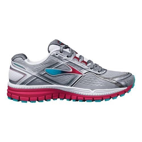 Womens Brooks Ghost 8 Running Shoe - Grey/Pink 6