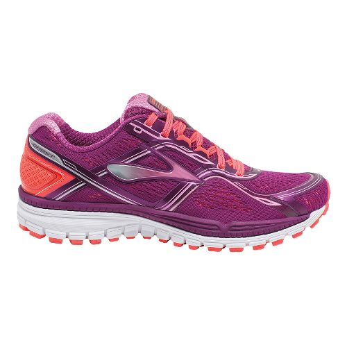 Womens Brooks Ghost 8 Running Shoe - Phlox Pink/Fiery Coral 6