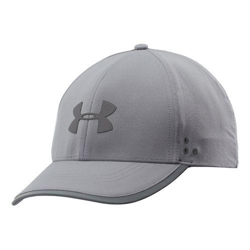 Mens Under Armour Flash Adjustable Run Cap Headwear - Steel/Reflective