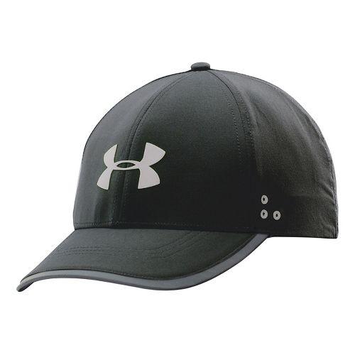 Mens Under Armour Flash Adjustable Run Cap Headwear - Blue Jet/Reflective