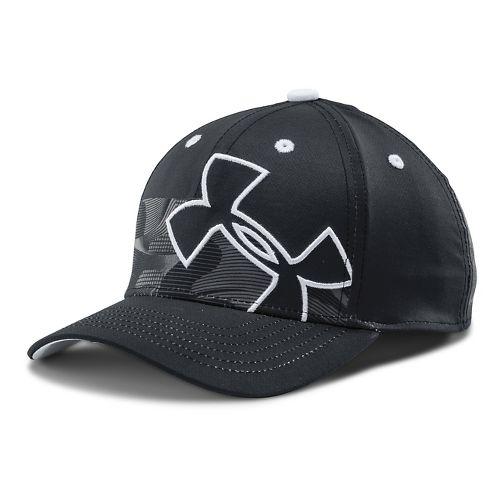 Kids Under Armour Tiltin Stretch Fit Cap Headwear - Anthracite/White XS/S