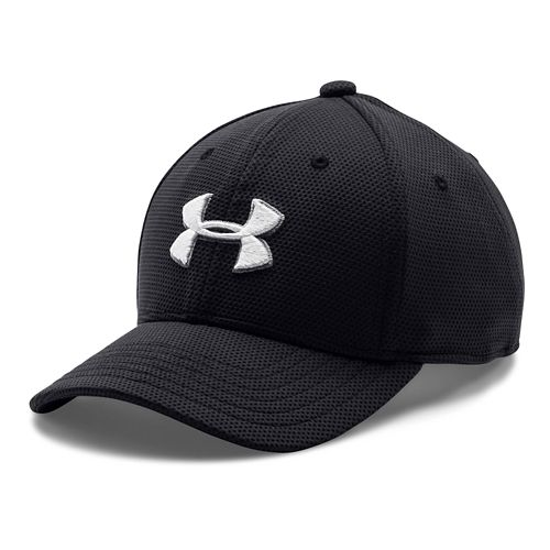 Under Armour Boys Blitzing 2.0 Stretch Fit Cap Headwear - Black S/M
