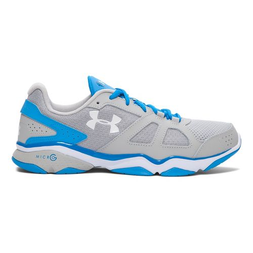 Mens Under Armour Micro G Strive V Cross Training Shoe - Aluminum/Blue 13