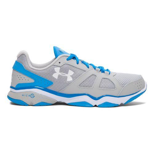 Mens Under Armour Micro G Strive V Cross Training Shoe - Aluminum/Blue 8