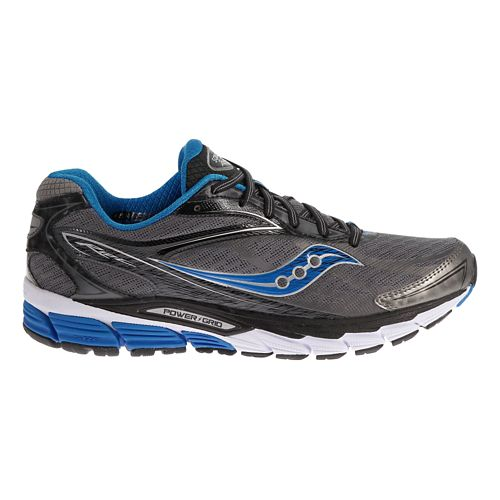 Mens Saucony Ride 8 Running Shoe - Grey/Blue 8.5