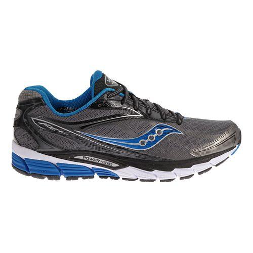 Mens Saucony Ride 8 Running Shoe - Grey/Blue 9.5