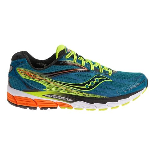 Mens Saucony Ride 8 Running Shoe - Deepwater/Citron 1.5