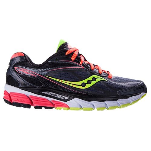 Womens Saucony Ride 8 Running Shoe - Midnight/Coral 6