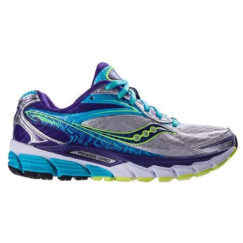 Womens Saucony Ride 8 Running Shoe - Silver/Purple 9.5