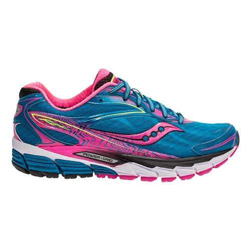 Womens Saucony Ride 8 Running Shoe - Deepwater/Pink 15