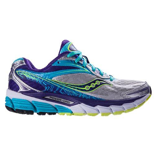 Womens Saucony Ride 8 Running Shoe - Silver/Purple 8.5