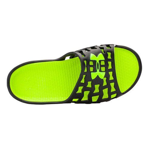 Mens Under Armour Mavrix SL Sandals Shoe - Black/Yellow 9
