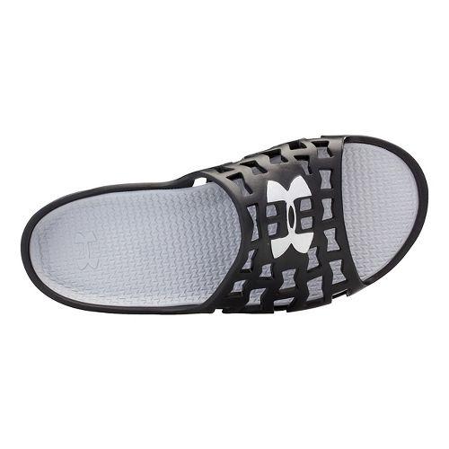 Mens Under Armour Mavrix SL Sandals Shoe - Black/Metallic Silver 8