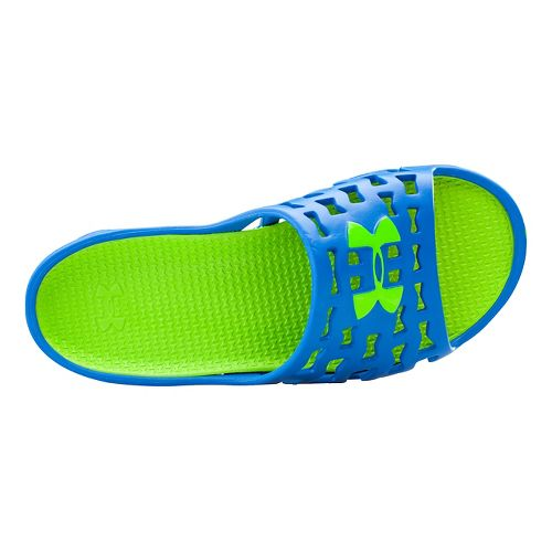 Mens Under Armour Mavrix SL Sandals Shoe - Blue/Hyper Green 13