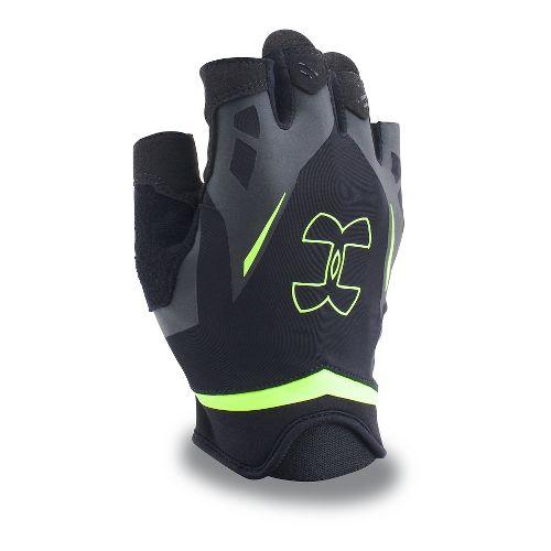Mens Under Armour Flux Glove Handwear - Black/Fuel Green S