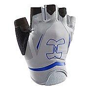 Mens Under Armour Flux Glove Handwear - Steel/Royal M