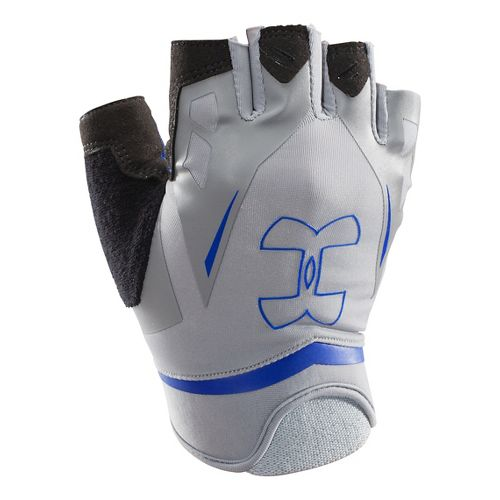 Mens Under Armour Flux Glove Handwear - Steel/Royal M